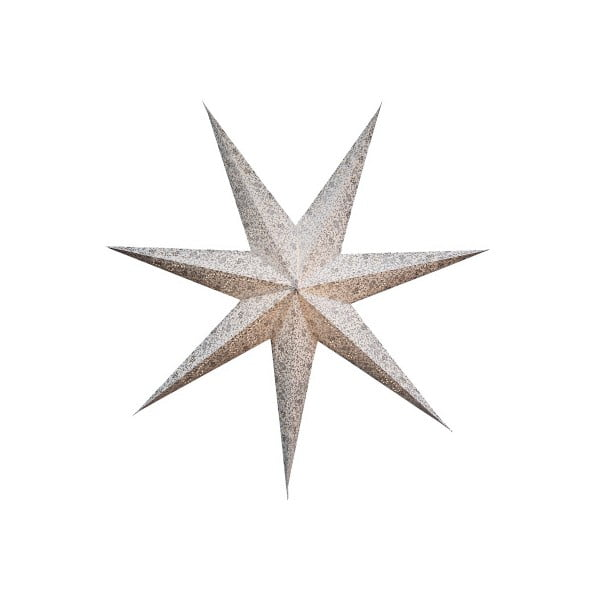 Závesná svietiaca hviezda Best Season Five Snow Silver, 150 cm