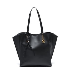 Čierna kožená kabelka Mangotti Kalina