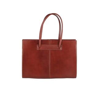 Hnedá kožená kabelka Chicca Borse Anna