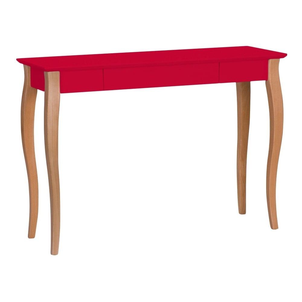 Červený písací stôl Ragaba Lillo, šírka 105 cm