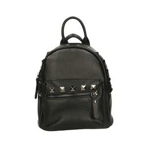 Čierny kožený batoh Roberto Buono Monica