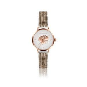 Dámske hodinky s remienkom z antikoro ocele v zlatej a striebornej farbe Emily Westwood Monstera