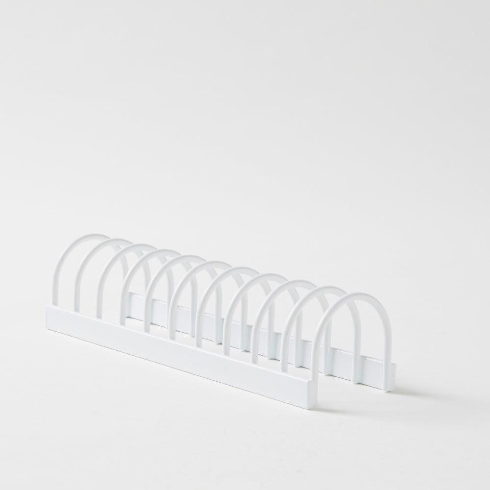 Biely kovový stojan na riad Compactor