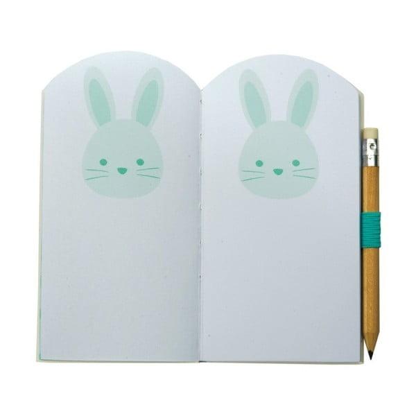 Mini zápisník Busy B Bunny s ceruzkou