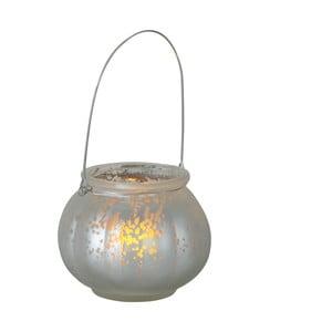 Strieborný LED lampáš Best Season Fragile