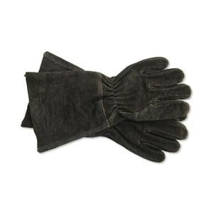 Čierne semišové rukavice Garden Trading Gaunlet Black, dĺžka 38,5 cm