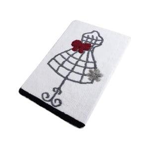 Kúpeľňová predložka Confetti Bathmats Dress White, 60 x 100 cm