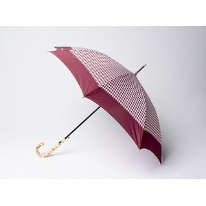 Dáždnik Houndstooth, vínový