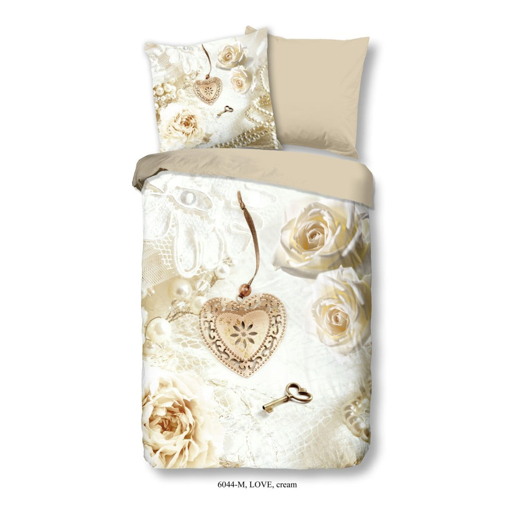 Obliečky na jednolôžko z mikroperkálu Muller Textiels Romance, 135 × 200 cm