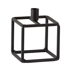 Čierny svietnik KJ Collection Lines, 7 x 9 cm