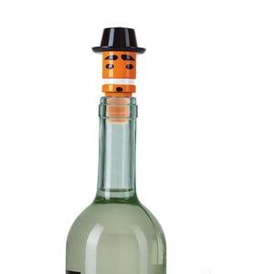 Oranžová zátka na víno e-my Mr. Porkpie