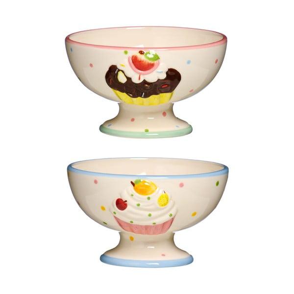 Sada 2 dezertných misiek Premier Housewares Cupcake Dessert
