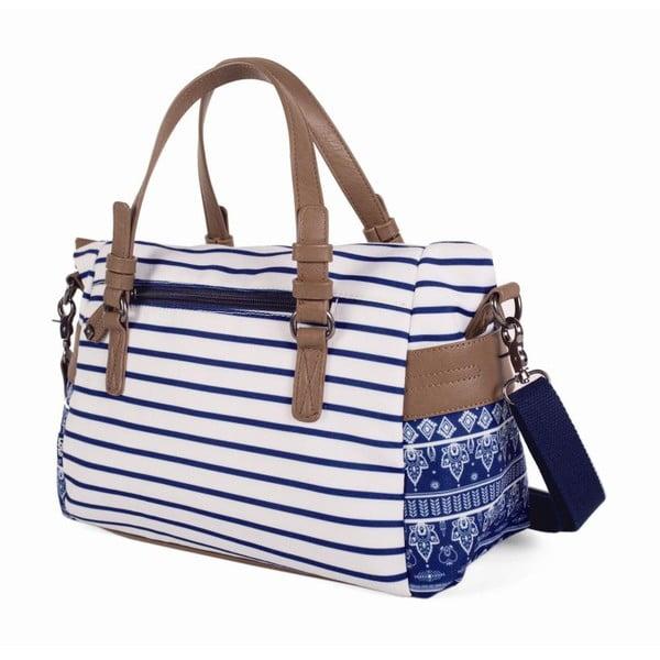 Modro-biela kabelka Lois, 29 x 22 cm