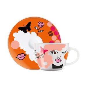 Set porcelánovej šálky a tanierika na espresso Ritzenhoff Ingrid Robers, 8 cl