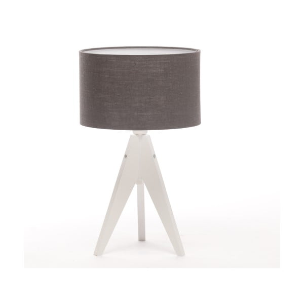 Stolná lampa Arist Cylinder Dark Grey/White