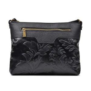 Čierna kožená kabelka Renata Corsi Mula