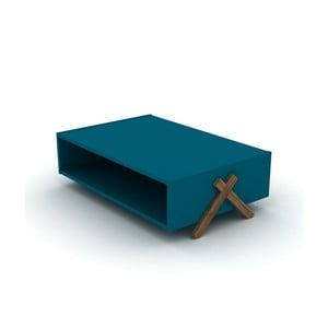 Modrý konferenčný stolík Rafevi Kipp