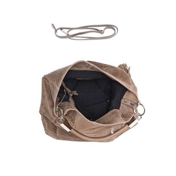Kožená kabelka Carla Ferreri 889 Fango