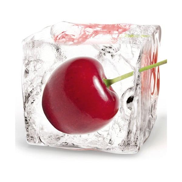 Sklenený obraz Cherry Cube, 20x20 cm