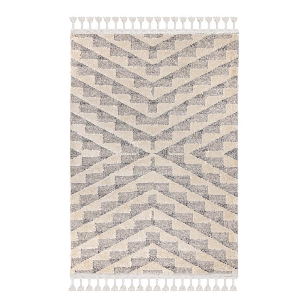 Sivo-krémový koberec Flair Rugs Hampton, 80 x 150 cm