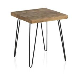 Odkladací stolík s doskou z brestového dreva Geese Rea, výška 47 cm