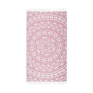 Ružová hammam osuška Kate Louise Mirabelle, 165×100cm