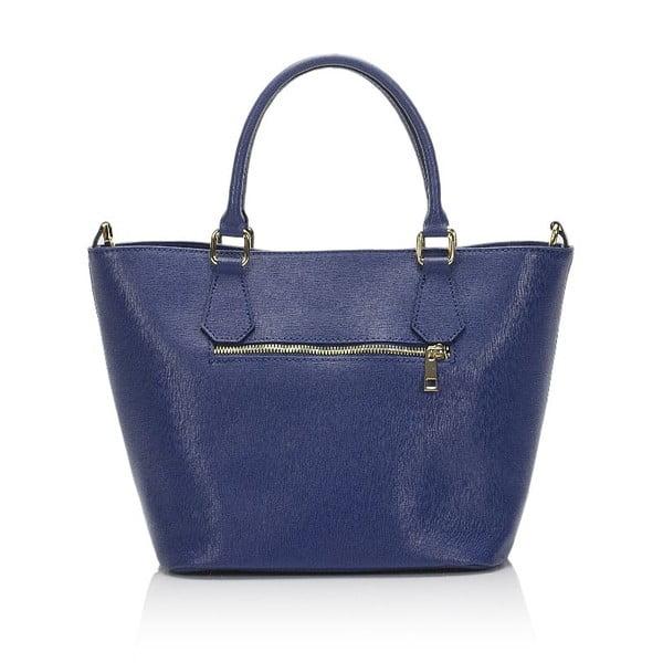 Modrá kožená kabelka Giulia Massari 2415 Blue