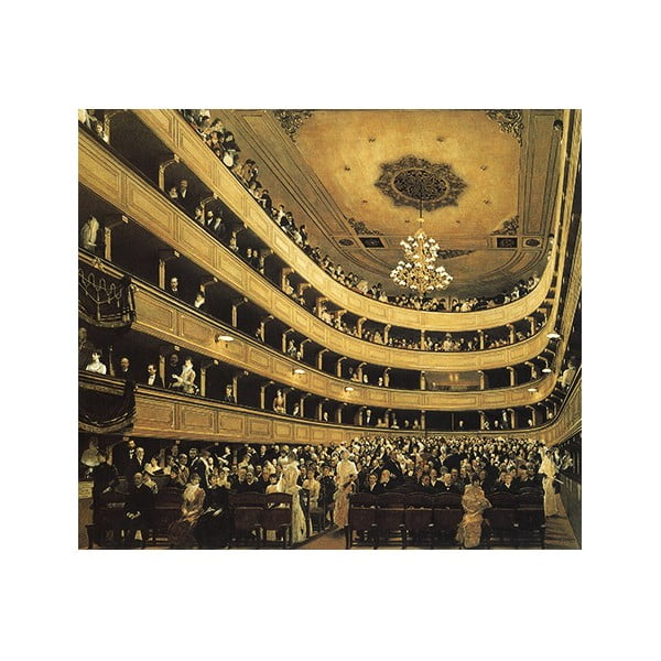 Obraz Gustav Klimt - Auditorium in the Old Burgtheater, 50x60 cm