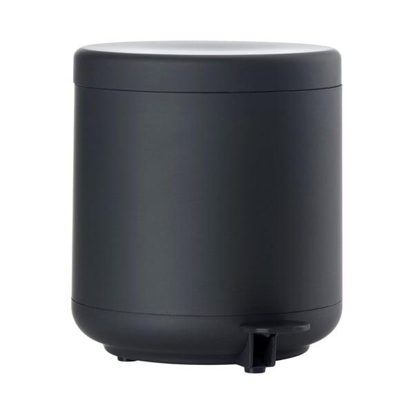 Čierny kúpeľňový odpadkový kôš s pedálom Zone UME, 4 l