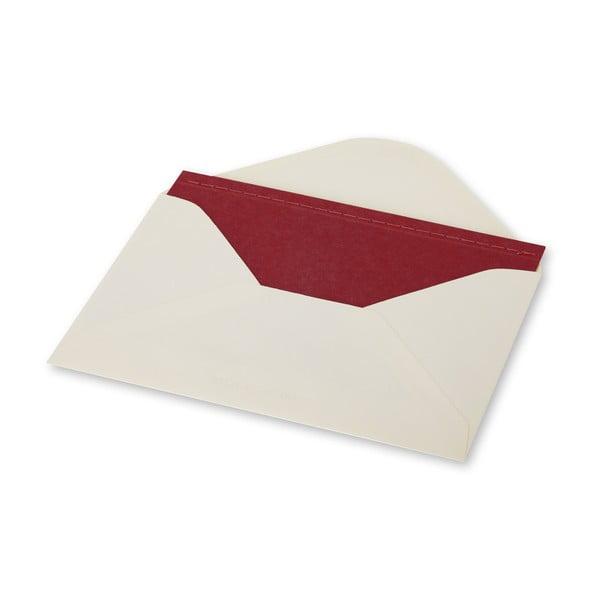 Listový set Moleskine Personal Red, zápisník + obálka
