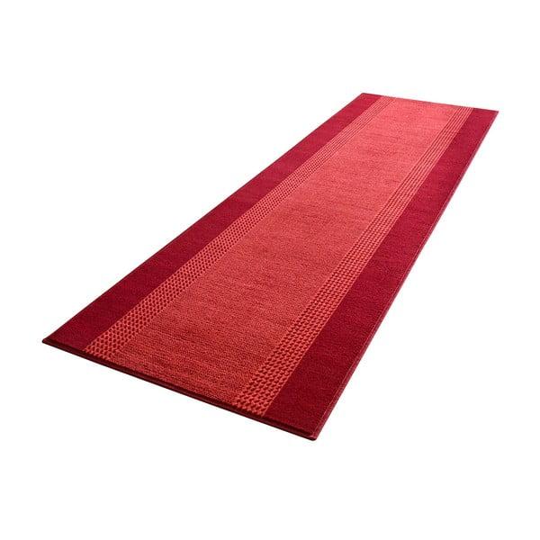 Koberec Basic, 80x300 cm, červený