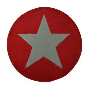 Koberec City & Mix - červená plná hviezda, 140 cm