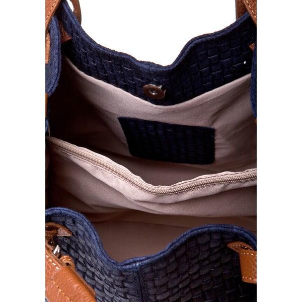 Kožená kabelka Massimo Castelli 9991 Blue