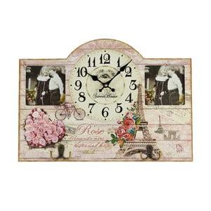 Nástenné hodiny s fotorámikmi, 45x32 cm