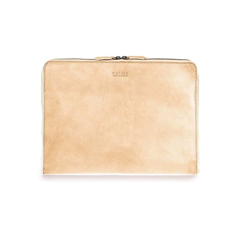 c5dc5b6962 Béžový kožený obal na notebook 13