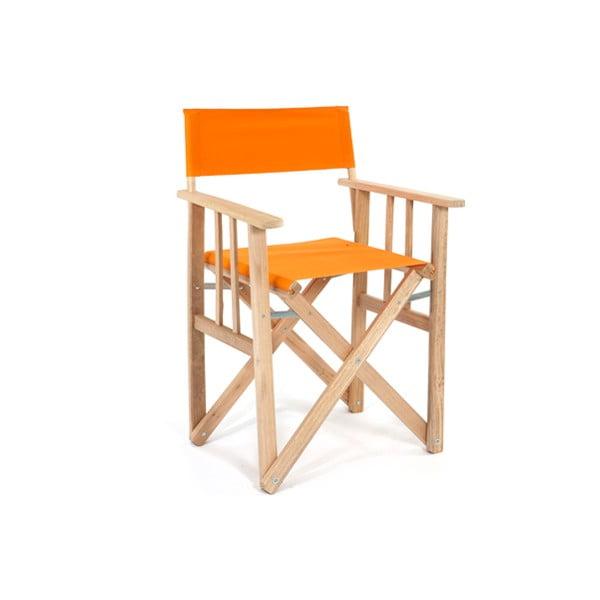 Skladacia stolička Director, oranžová