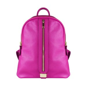 Fuksiový kožený batoh Maison Bag Lisa