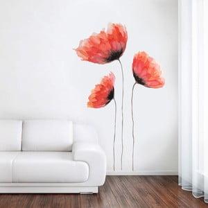 Samolepka na stenu Maľovaný mak