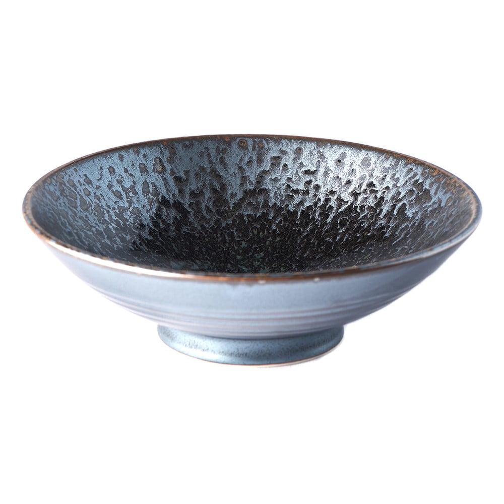 Čierno-sivá keramická miska na polievku Mij Pearl, ø 24 cm