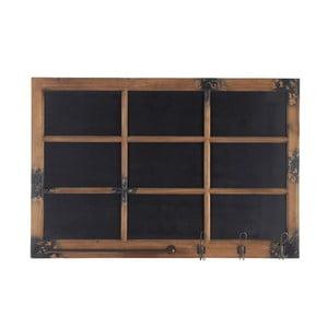 Vešiak s tabuľou Blackboard, 115x78 cm