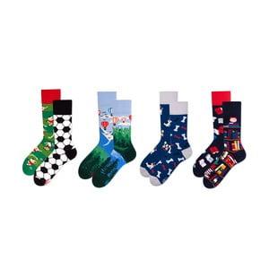 Sada 4 párov ponožiek v darčekovom balení Many Mornings Adventure, veľ. 43–46