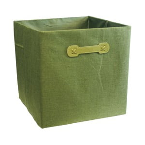 Úložný box Ordinett Cube Green, 32 x 32 cm