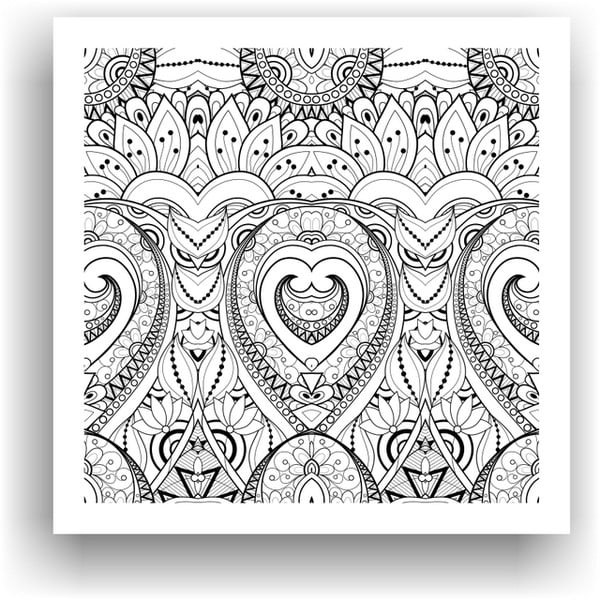 Obraz na vymaľovanie Color It no. 72, 50x50 cm