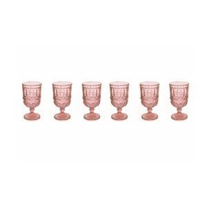 Sada 6 ružových pohárov na víno Villa d'Este Chic, 275 ml