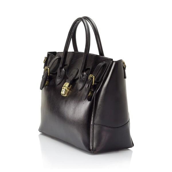 Čierna kožená kabelka Lisa Minardi Pomona