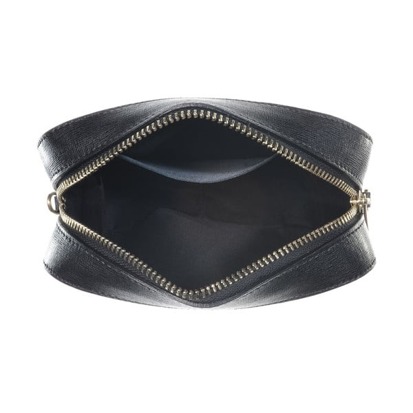 Kožená listová kabelka Little High Black