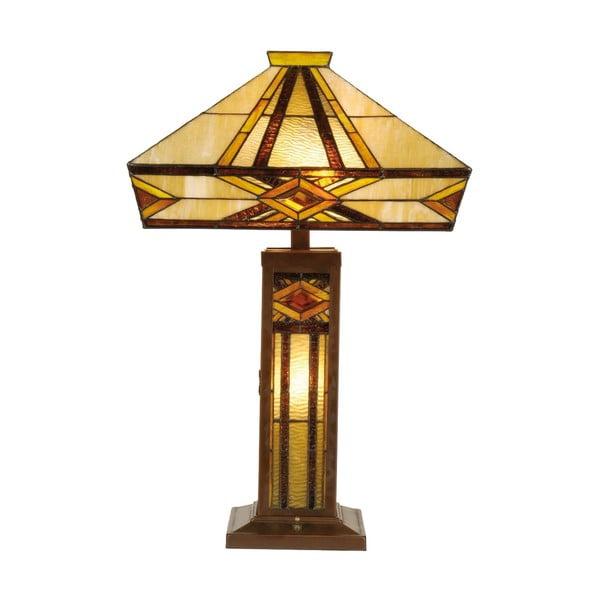 Tiffany stolová lampa Cubic