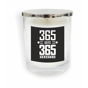 Biela sviečka North Carolina Scandinavian Home Decors Motto Glass Candle V14