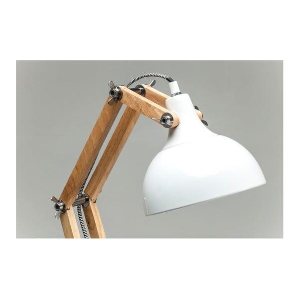 Biela stolová lampa Kare Design Station