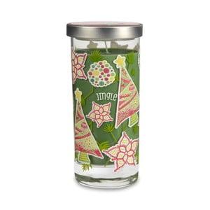 Vonná sviečka Glass Bridgewater Candle, vôňa smreku, cédra, karamelu a pižma